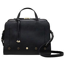 Buy Radley Hatton Row Medium Leather Zip Top Grab Bag, Black Online at johnlewis.com