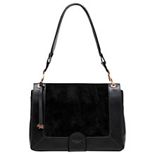 Buy Radley Linton Street Leather Shoulder Bag, Black Online at johnlewis.com
