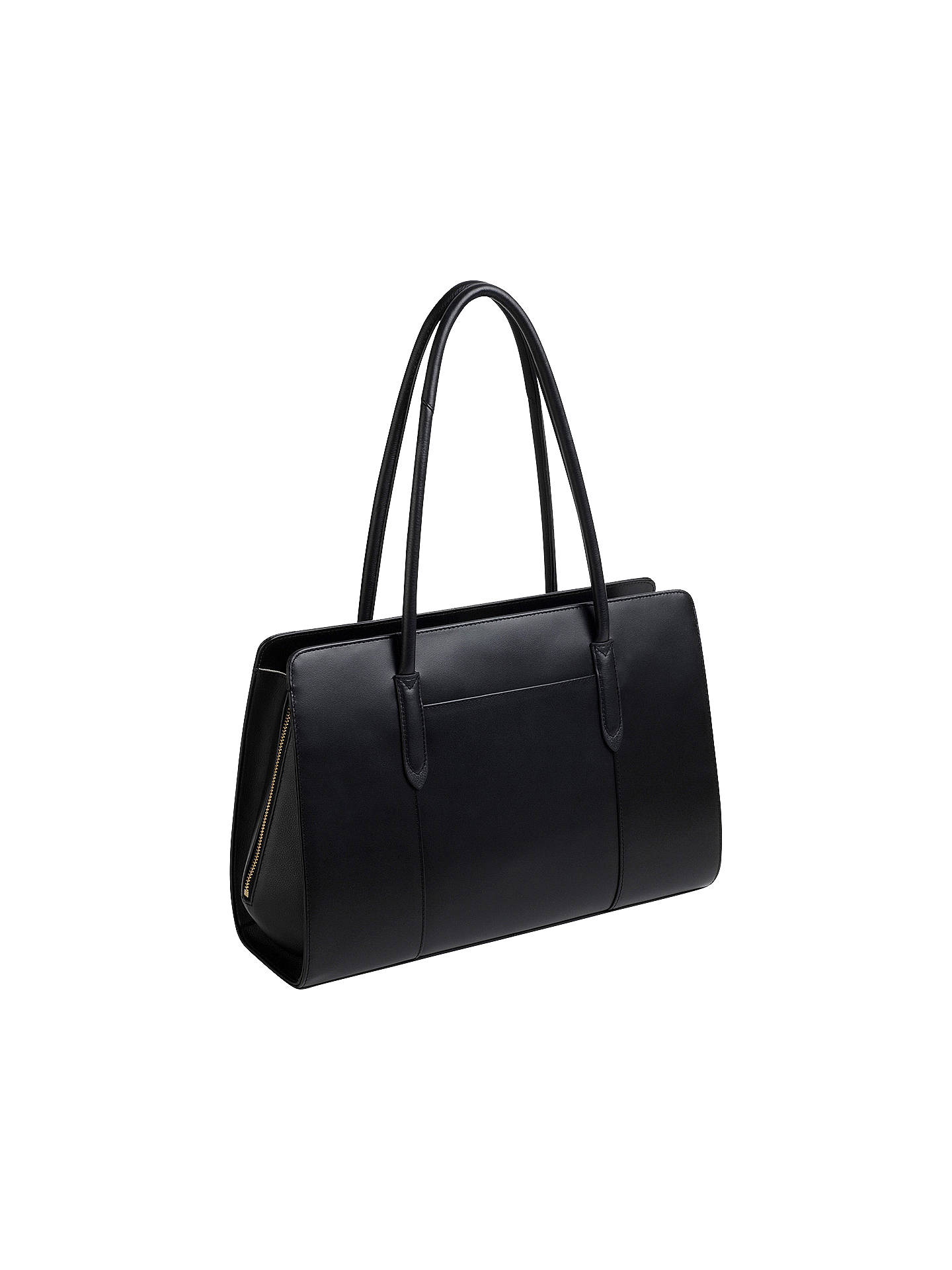 Buy Radley Liverpool Street Leather Large Tote Bag, Black Online at johnlewis.com