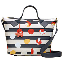 Buy Radley On The Dot Medium Ziptop Bag, Petrol Online at johnlewis.com
