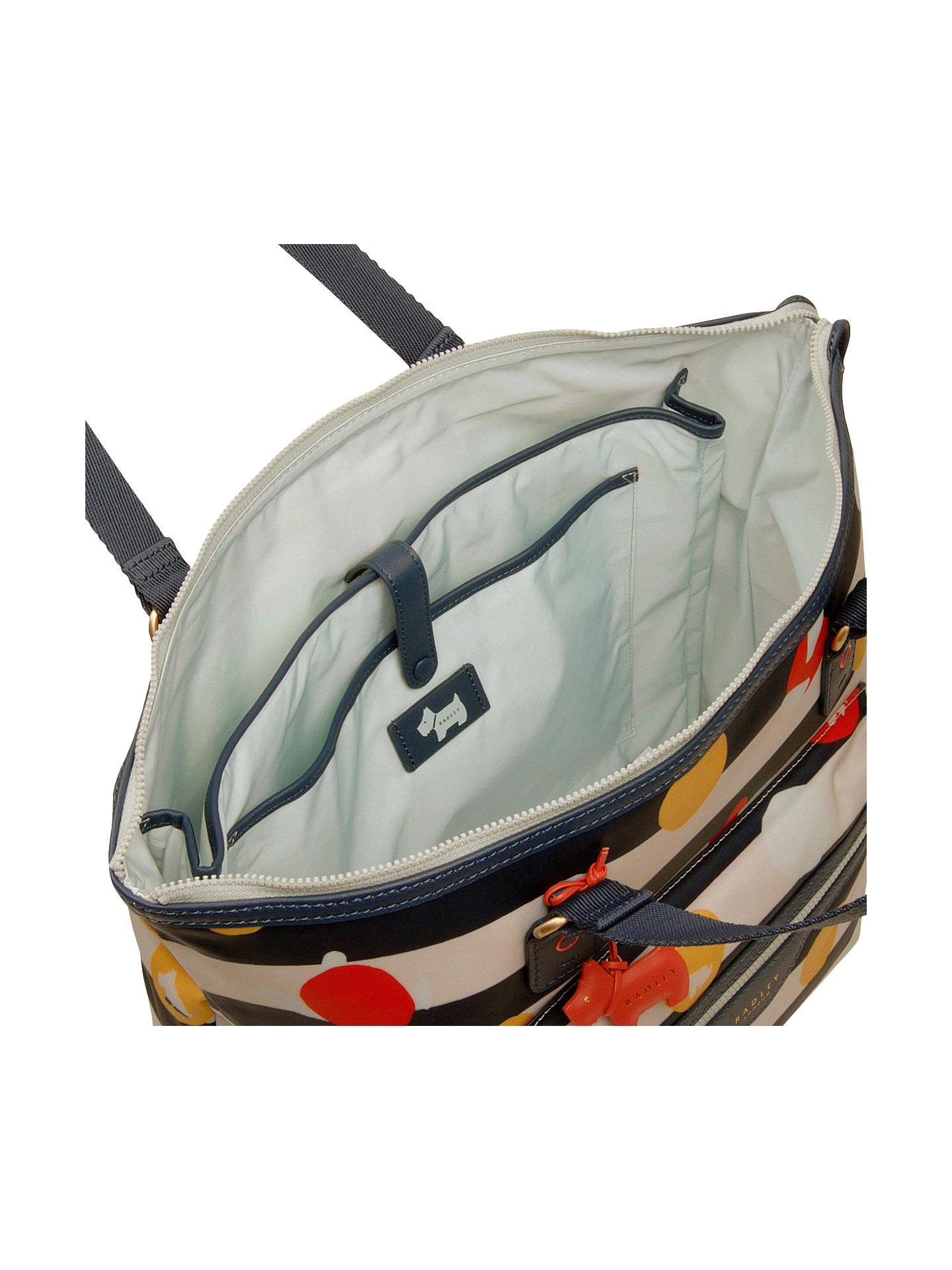 e70898eeb15 ... BuyRadley On The Dot Large Ziptop Shoulder Bag, Petrol Online at  johnlewis.com ...