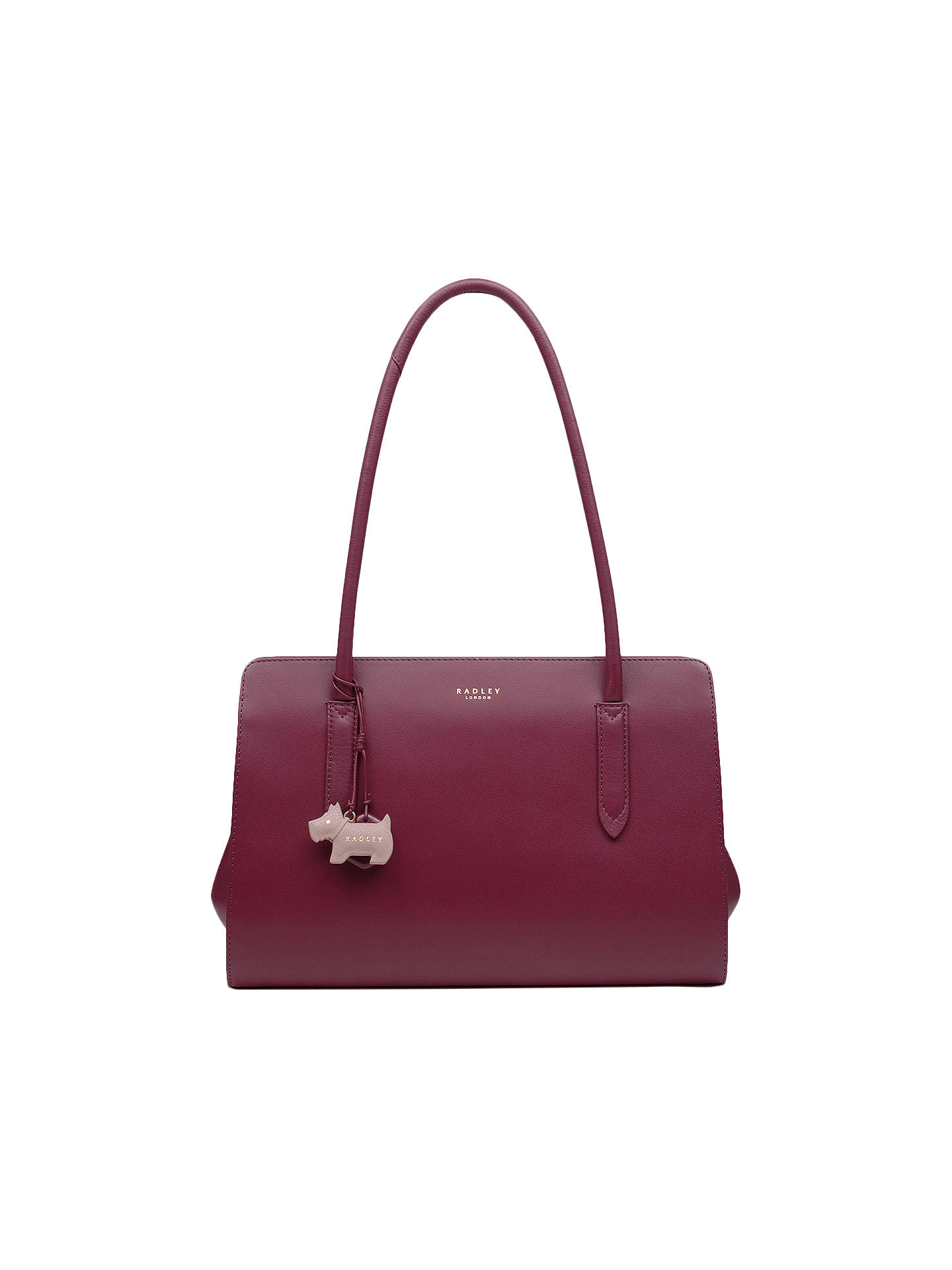 Radley Liverpool Street Leather Medium Tote Bag Berry Online At Johnlewis