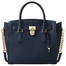 Buy MICHAEL Michael Kors Hamilton Leather Large East/West Tote Bag, Admiral Online at johnlewis.com
