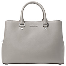 Buy MICHAEL Michael Kors Savannah Leather Satchel Online at johnlewis.com