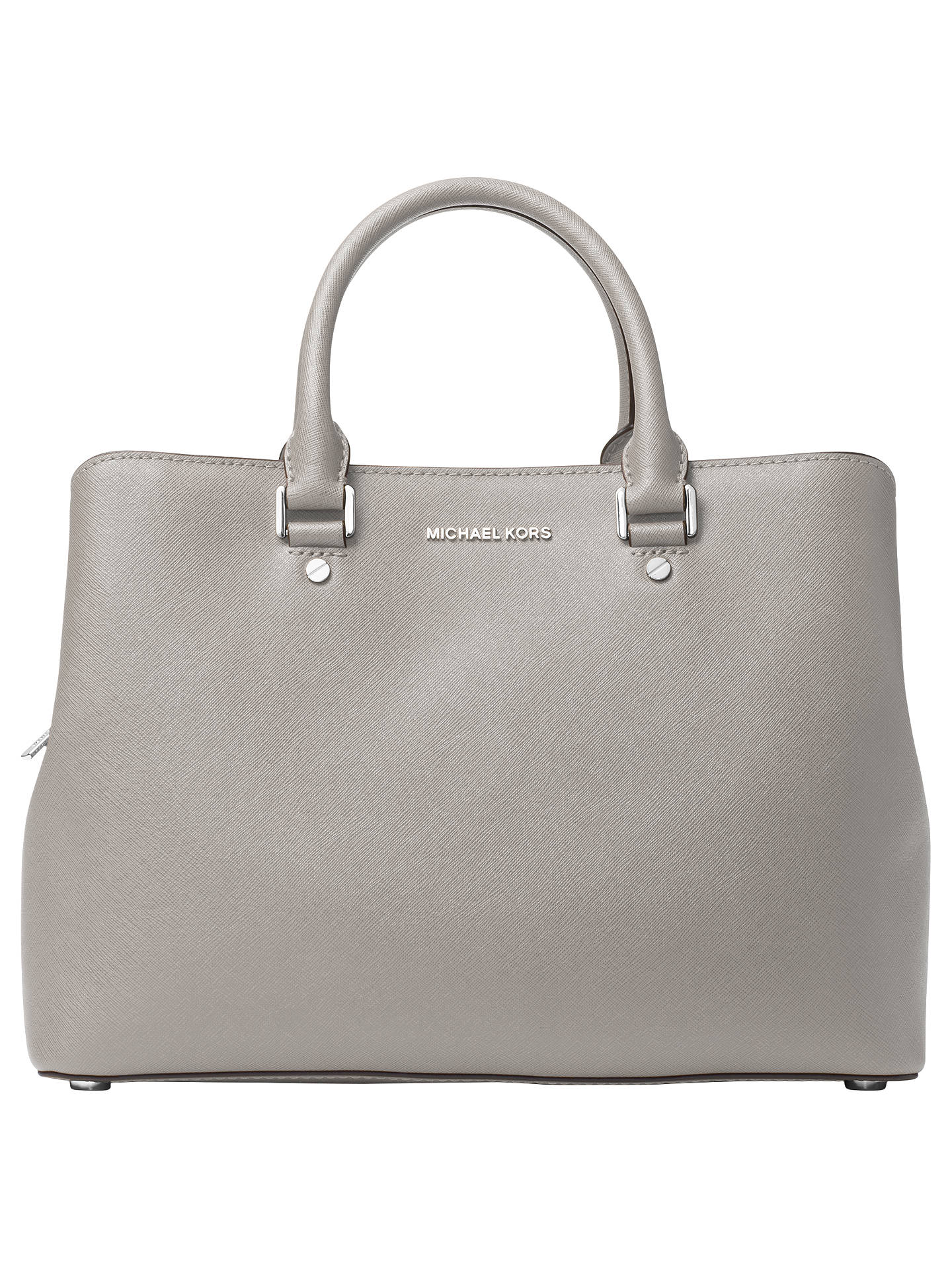 7a3e127f3622 ... germany buymichael michael kors savannah leather satchel pearl grey  online at johnlewis 089e2 191ec