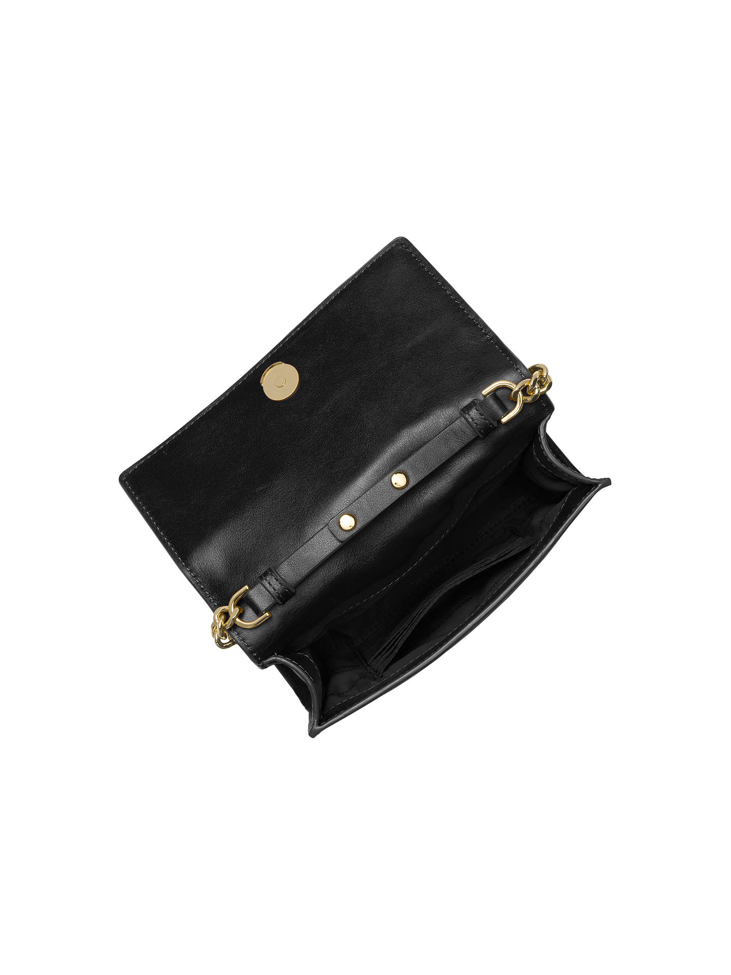 9dc12bae8108 ... Buy MICHAEL Michael Kors Ruby Leather 'Love' Clutch Bag, Black Online  at johnlewis ...