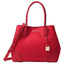 Buy MICHAEL Michael Kors Mercer Gallery Medium Leather Tote Bag Online at johnlewis.com