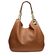 Buy MICHAEL Michael Kors Fulton Leather Large Shoulder Bag Online at johnlewis.com