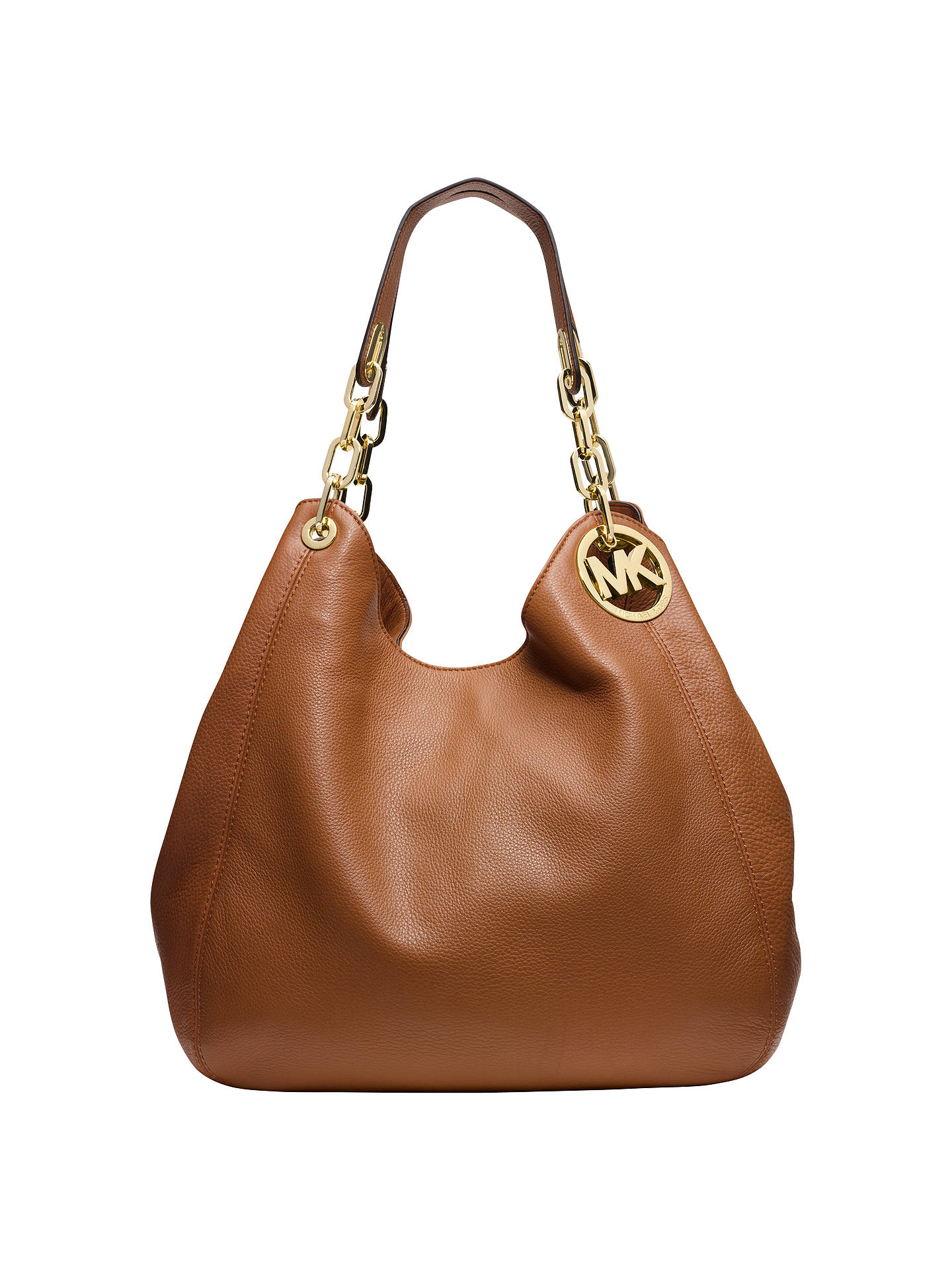 Michael Kors Fulton Leather Large Shoulder Bag Acorn Online At Johnlewis