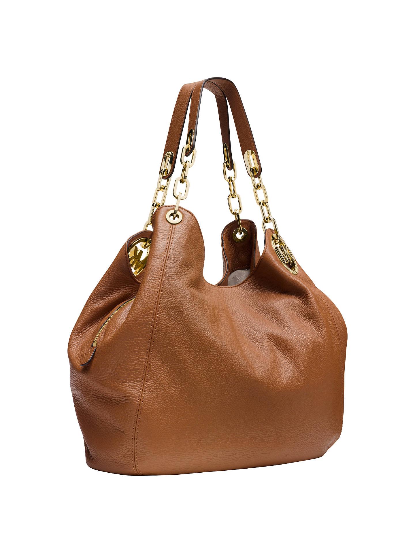 michael michael kors fulton leather large shoulder bag at. Black Bedroom Furniture Sets. Home Design Ideas