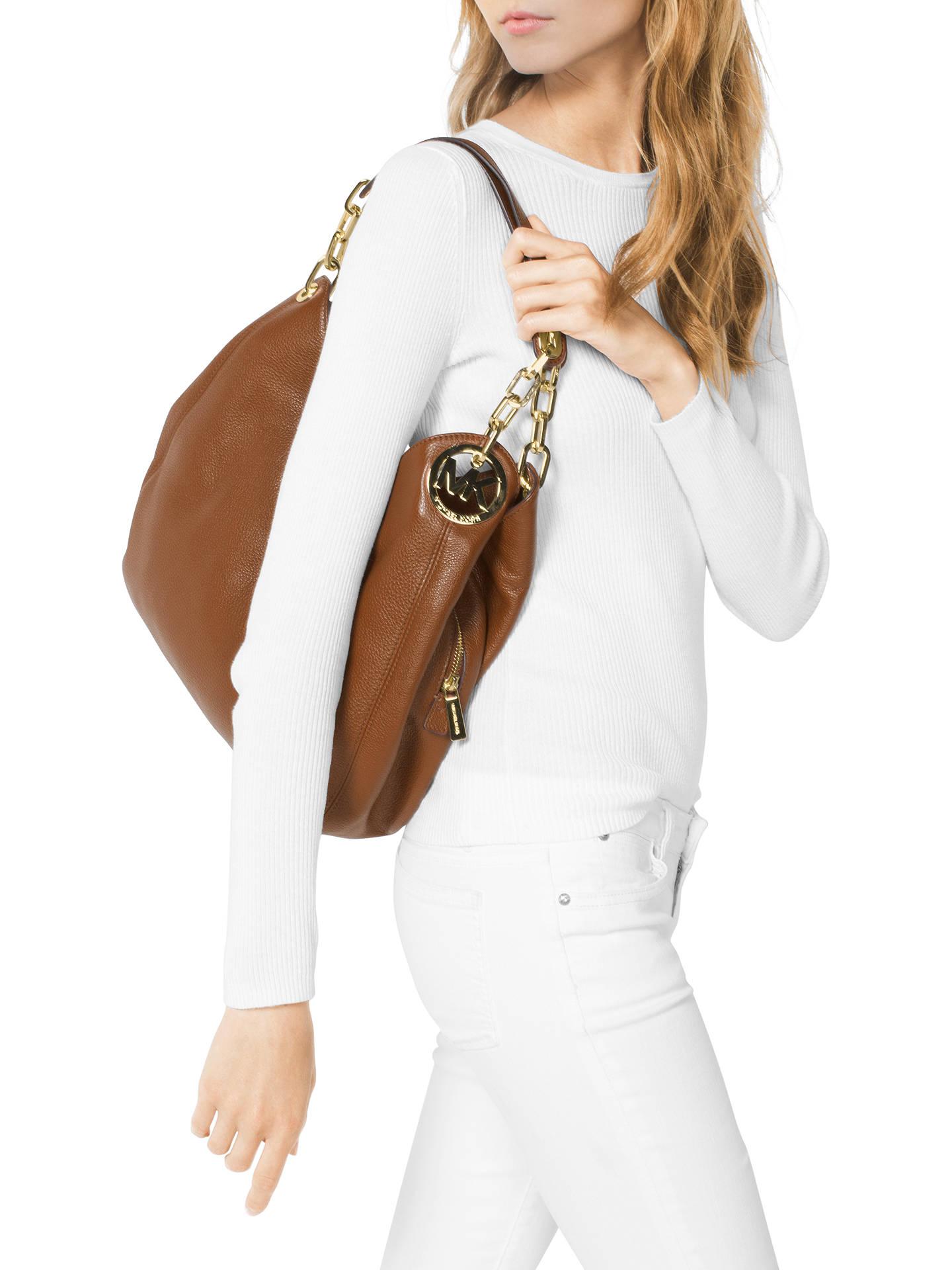 ceaa6690142 ... Buy MICHAEL Michael Kors Fulton Leather Large Shoulder Bag, Acorn  Online at johnlewis.com
