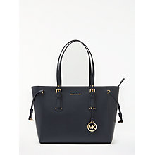 Buy MICHAEL Michael Kors Voyager Leather Medium Tote Bag, Admiral Online at johnlewis.com