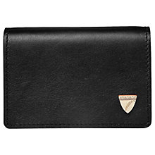 Buy Aspinal of London Leather Accordion Card Case, Black Online at johnlewis.com