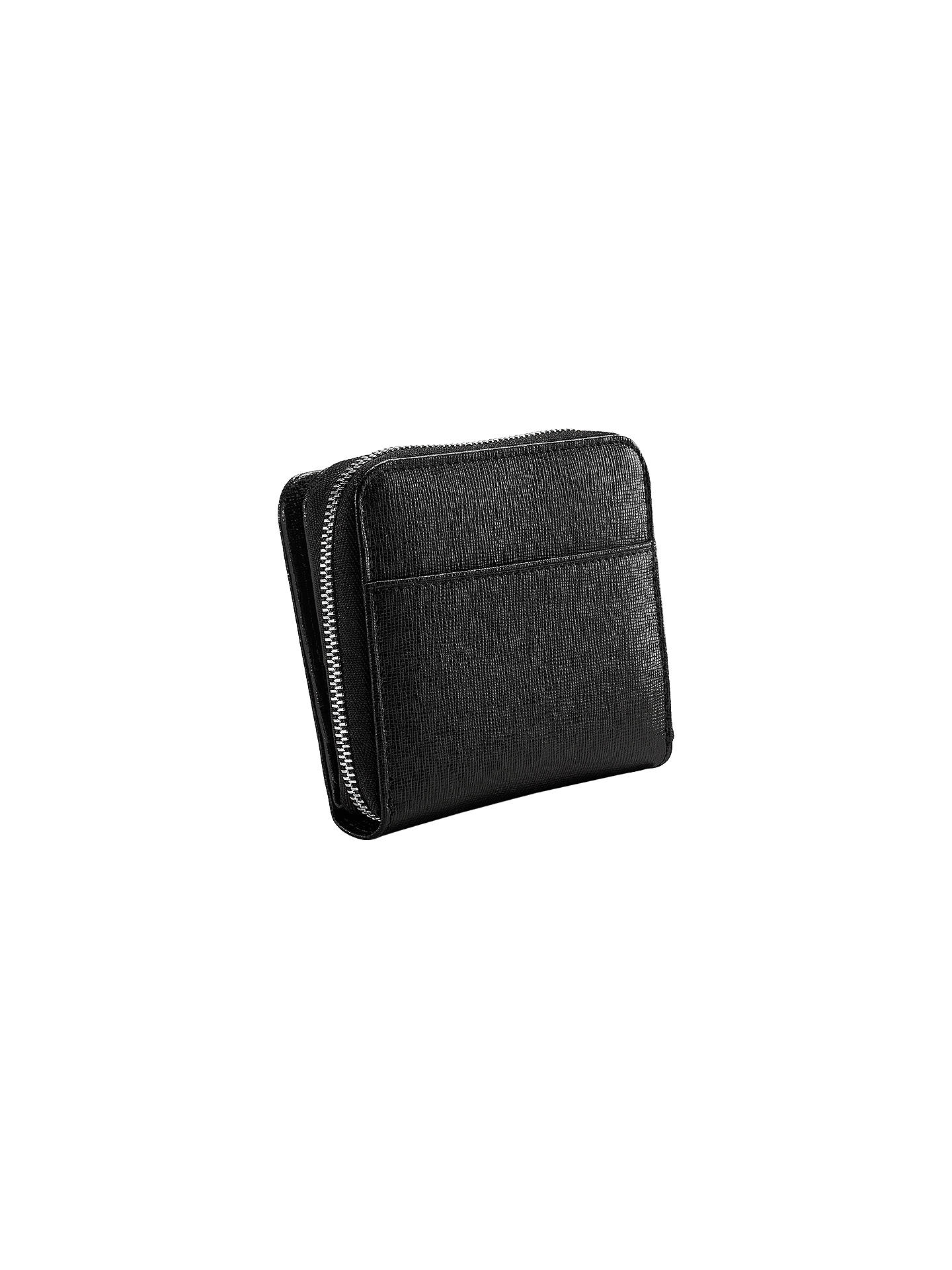 BuyAspinal of London Leather Continental Small Clutch Purse, Black Online at johnlewis.com
