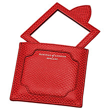 Buy Aspinal of London Marylebone Leather Compact Handbag Mirror, Berry Red Online at johnlewis.com