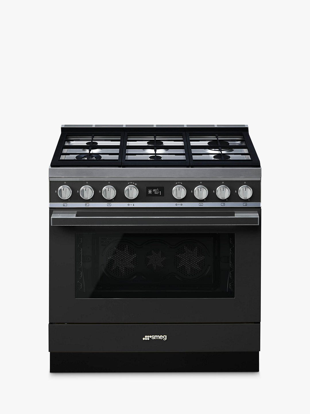 Buy Smeg Portofino CPF9GPAN Dual Fuel Range Cooker, A+ Energy Rating, Anthracite Online at johnlewis.com