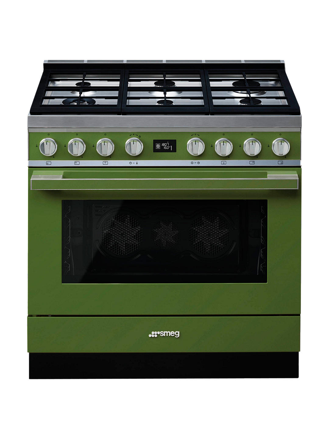 Buy Smeg Portofino CPF9GPOG Dual Fuel Range Cooker, A+ Energy Rating, Olive Green Online at johnlewis.com