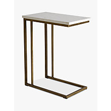 Buy Hudson Living Cleo Sofa Side Table, Marble Online at johnlewis.com