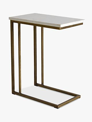 Hudson Living Cleo Sofa Side Table Marble