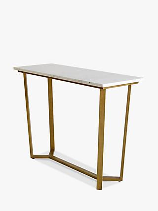Hudson Living Cleo Console Table, Marble