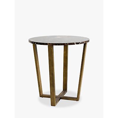 Hudson Living Emperor Side Table, Marble