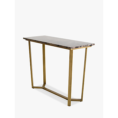 Hudson Living Emperor Console Table, Marble
