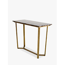 Buy Hudson Living Emperor Console Table, Marble Online at johnlewis.com