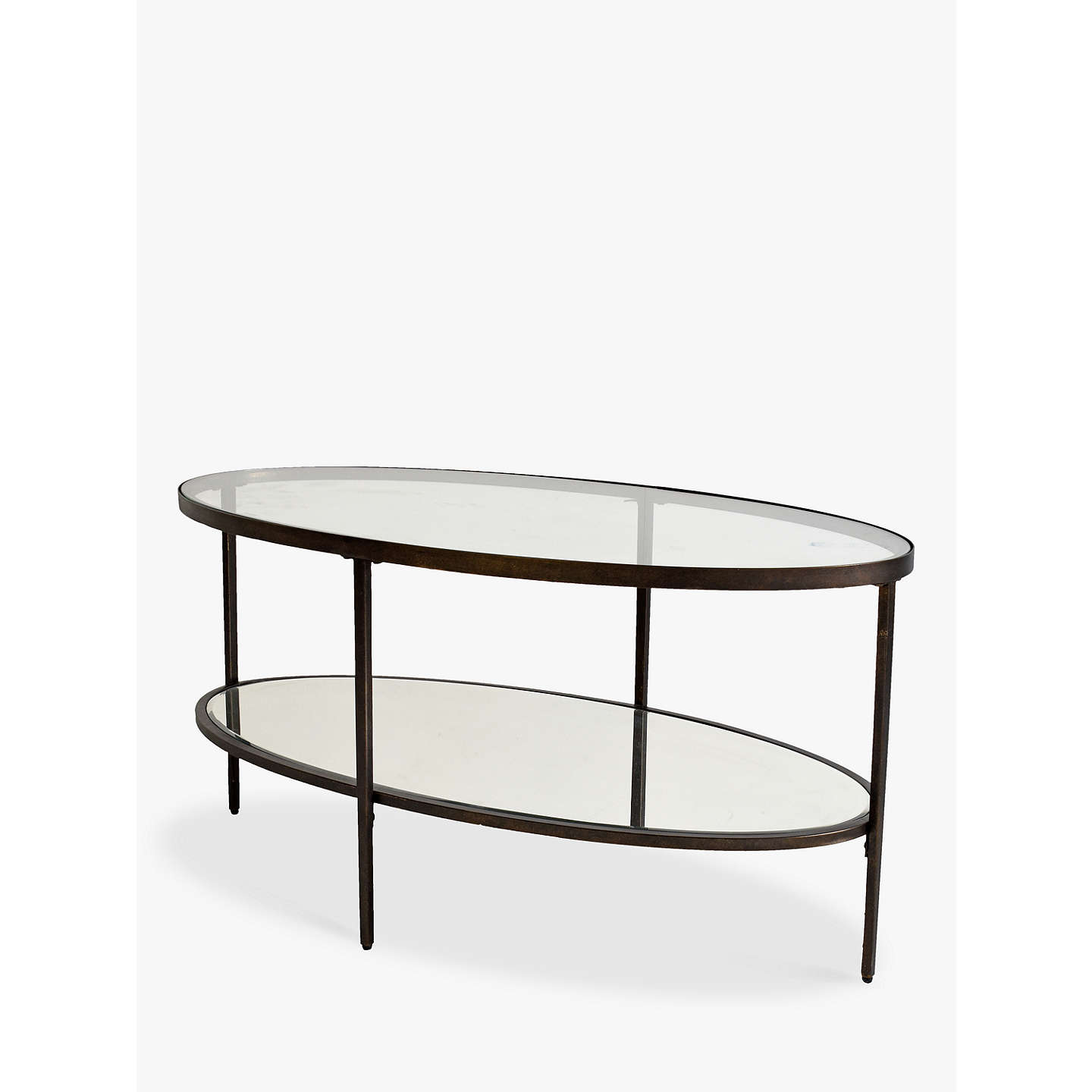 BuyHudson Living Glass Oval Coffee Table Online At Johnlewis.com ...