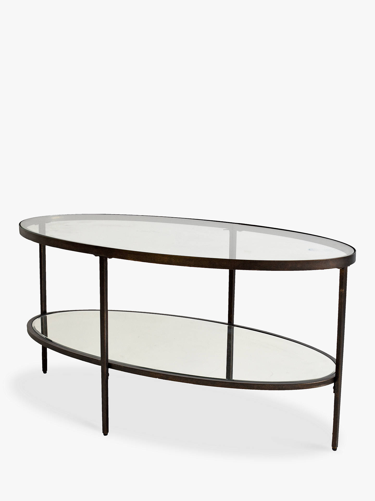 Hudson Living Glass Oval Coffee Table At John Lewis Partners