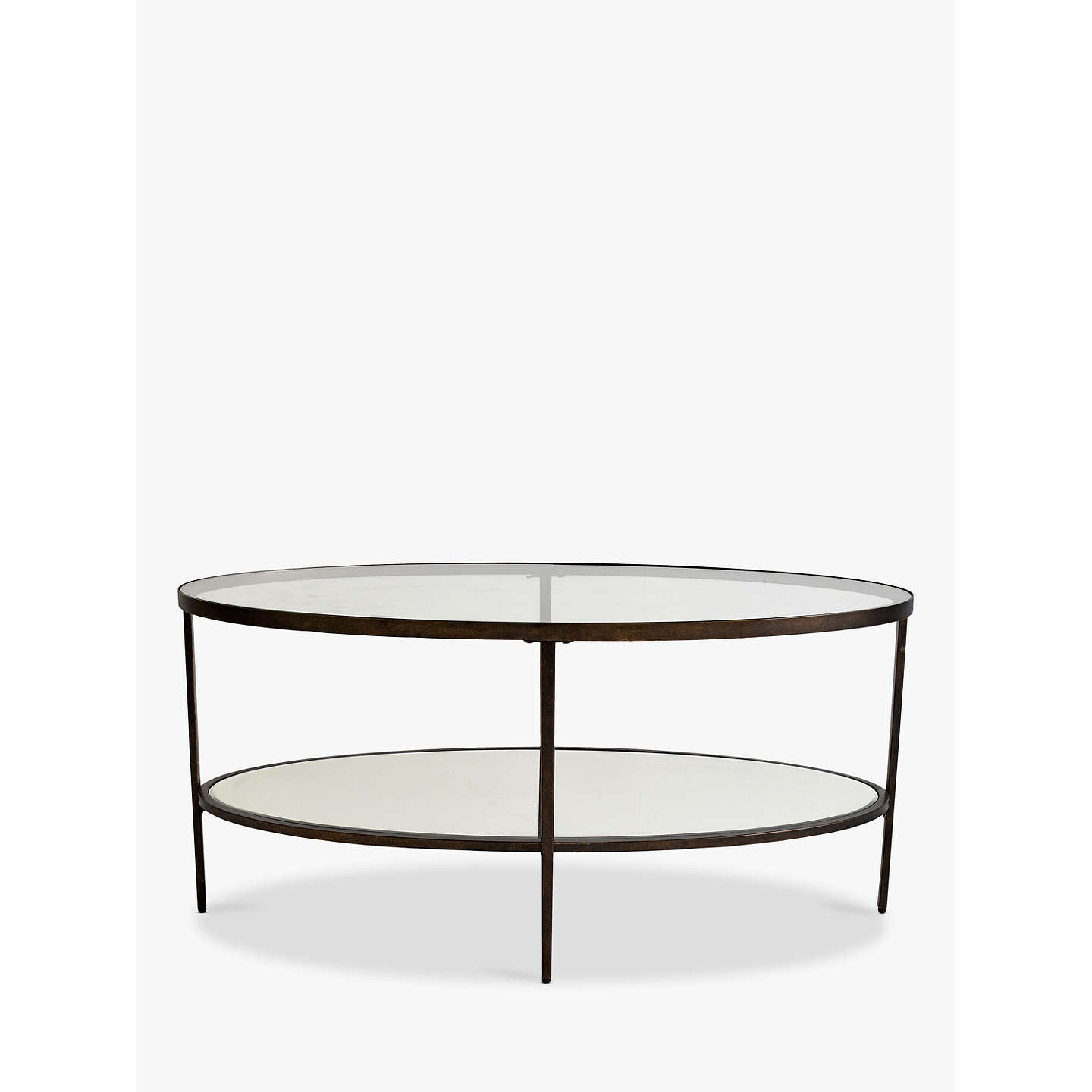 ... BuyHudson Living Glass Oval Coffee Table Online At Johnlewis.com ...