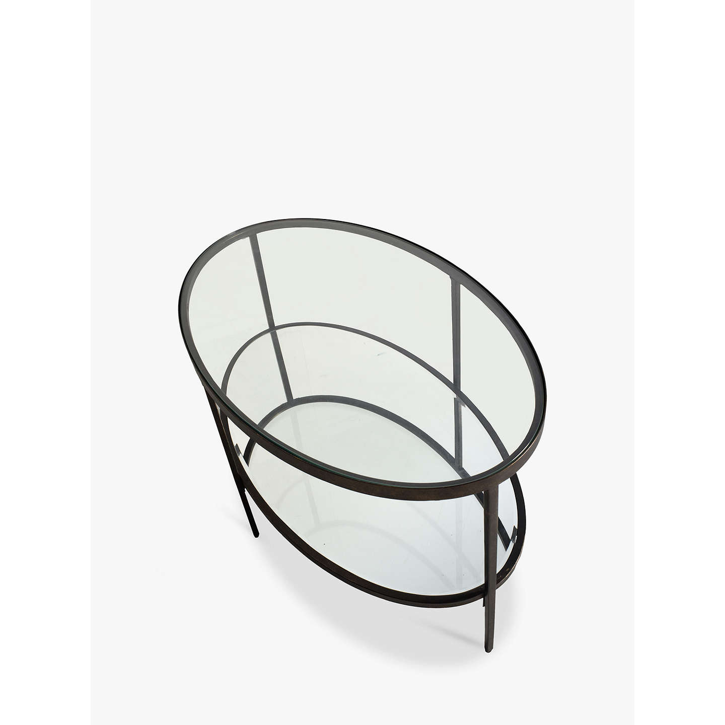 Hudson Living Glass Oval Coffee Table At John Lewis