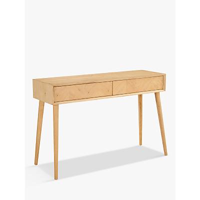 Hudson Living Milano Console Table, Oak