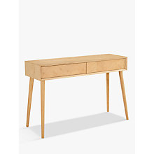 Buy Hudson Living Milano Console Table, Oak Online at johnlewis.com