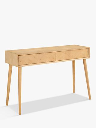 Hudson Living Milano Console Table, Oak