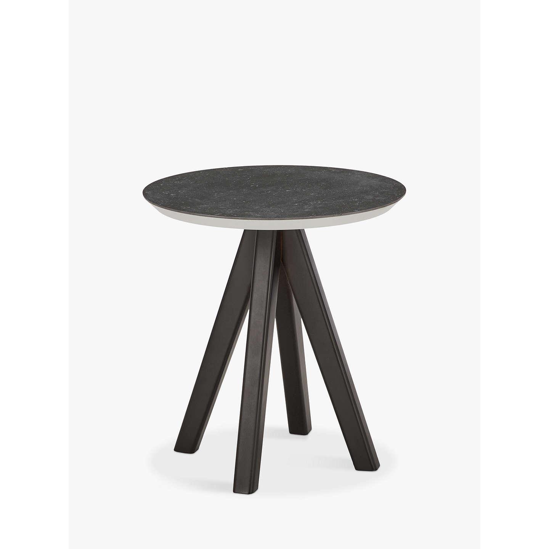 John Lewis Amalfi Round Side Table Black At Johnlewis Com