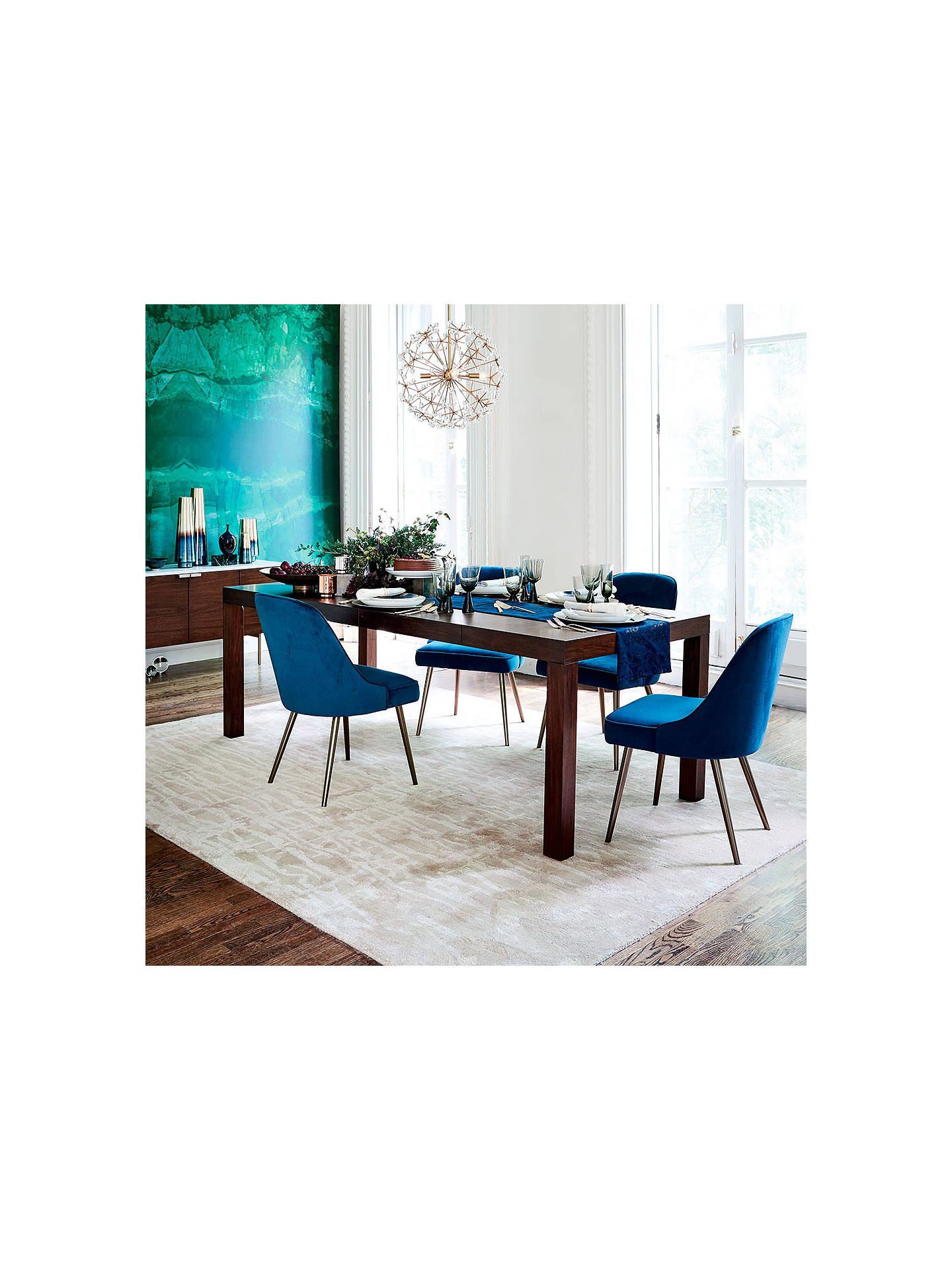 Astonishing West Elm Mid Century Velvet Dining Chair Lagoon Blue Machost Co Dining Chair Design Ideas Machostcouk