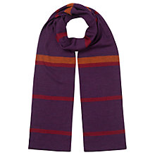 Buy East Stripe Merino Scarf, Pansy Online at johnlewis.com