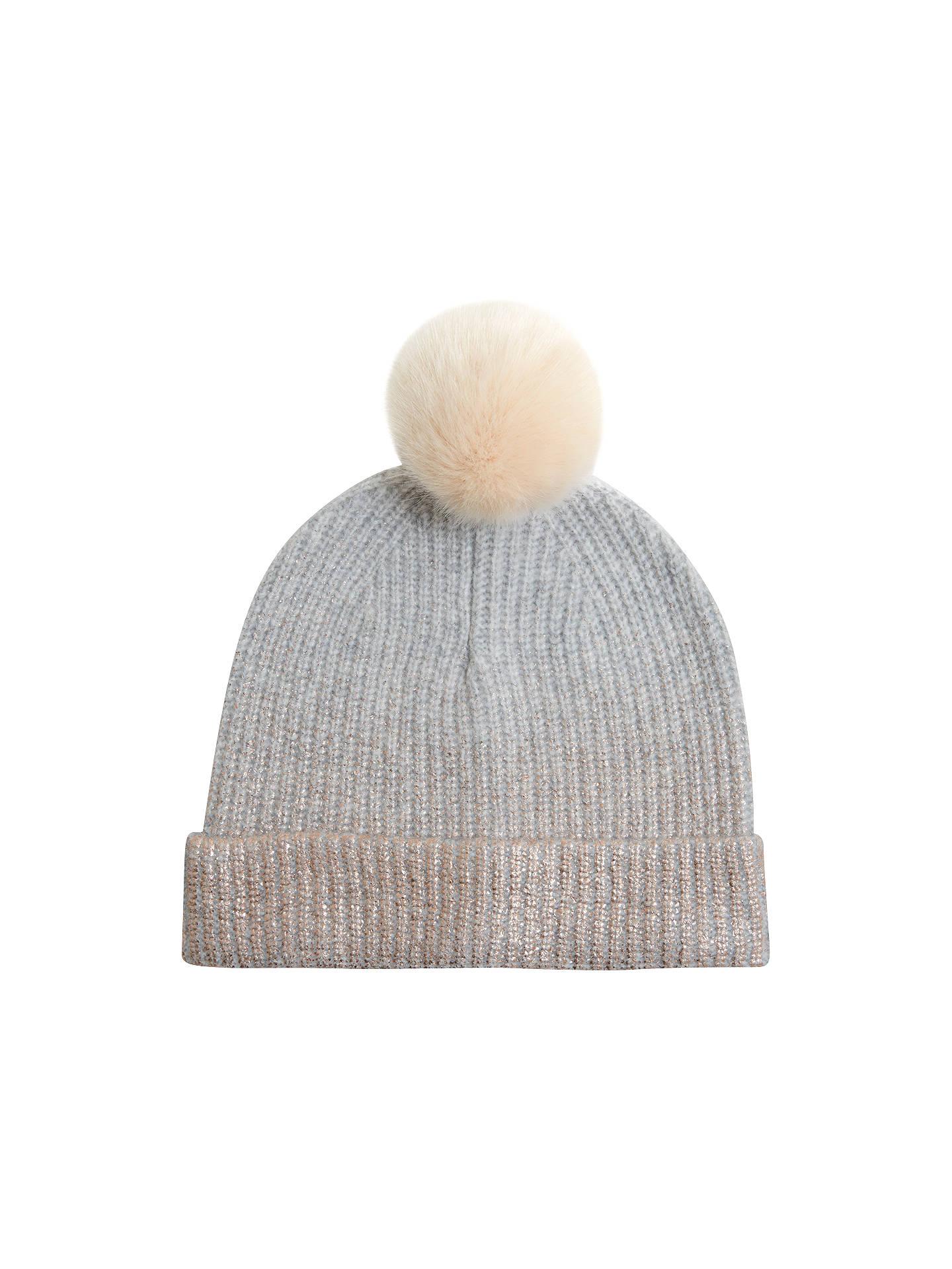 f005b8c3cdb Buy Hygge by Mint Velvet Foil Printed Pom Pom Hat