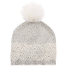 Buy Mint Velvet Fairisle Pom Pom Hat, One Size, Grey Online at johnlewis.com