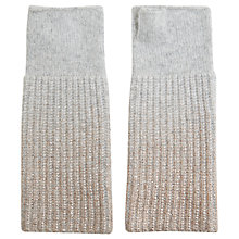Buy Hygge by Mint Velvet Foil Printed Hand Warmers, Light Grey Online at johnlewis.com