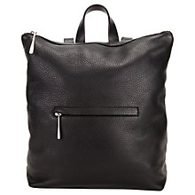 Buy Jigsaw Stevie Zip Top Large Backpack, Black Online at johnlewis.com