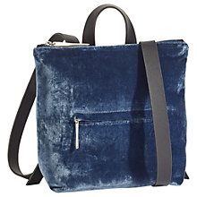 Buy Jigsaw Mini Stevie Leather Zip Top Backpack Online at johnlewis.com