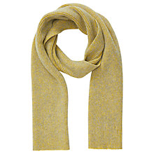 Buy Jigsaw Oban Two Colour Knit Scarf, Yellow/Grey Online at johnlewis.com