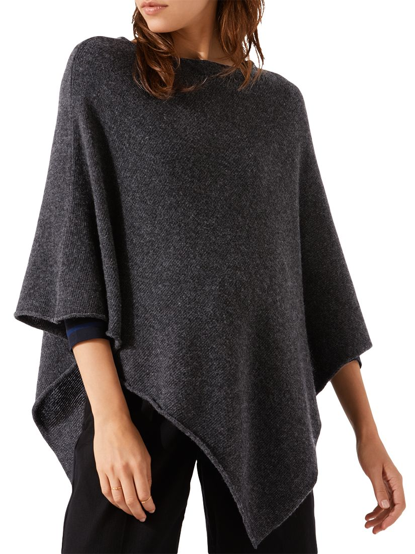 6ab36cb8f Jigsaw Cashmere Blend Rolled Poncho at John Lewis & Partners