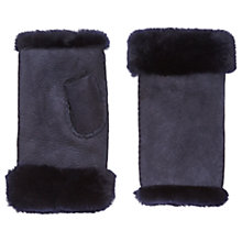 Buy Jigsaw Sheepskin Fingerless Mittens Online at johnlewis.com