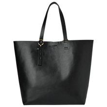 Buy Whistles Ring Detail Tote Bag, Black Online at johnlewis.com
