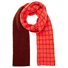 Buy Jigsaw Nevis Grid Brushed Wool Scarf, Warm Spice Online at johnlewis.com
