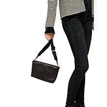 Buy Gerard Darel Sheep Skin Leather Cross Body Bag, Black Online at johnlewis.com