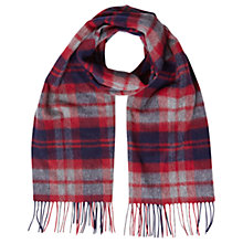 Buy White Stuff Caleb Check Wool Scarf, Night Sky Online at johnlewis.com
