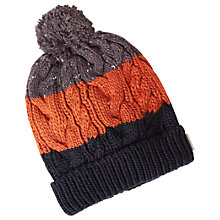 Buy White Stuff Spencer Stripe Bobble Hat, Navy Online at johnlewis.com